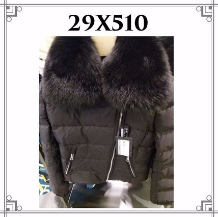 Short Plain Elegant Style Down Jackets