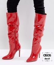 ASOS Casual Style Pin Heels Over-the-Knee Boots