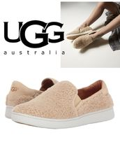 UGG Australia Round Toe Casual Style Faux Fur Plain Slip-On Shoes