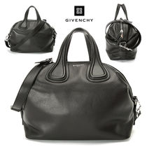 GIVENCHY NIGHTINGALE Leather Elegant Style Totes