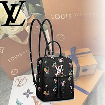 Louis Vuitton Leather Elegant Style Backpacks