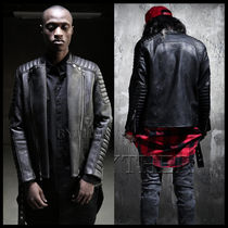 Unisex Street Style Leather Biker Jackets
