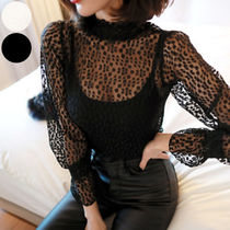 Long Sleeves Medium Elegant Style Shirts & Blouses