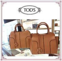 TOD'S Sella A4 2WAY Plain Leather Elegant Style Handbags