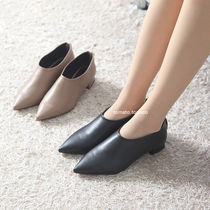 Casual Style Plain Leather Block Heels