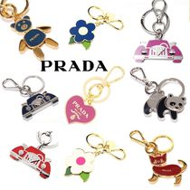 PRADA Heart Flower Patterns Keychains & Bag Charms