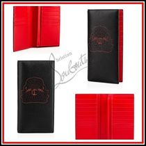 Christian Louboutin Monoglam Calfskin Plain Long Wallets