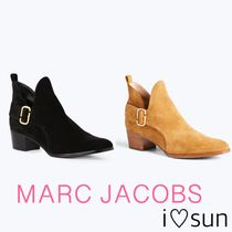 MARC JACOBS Plain Leather Block Heels Office Style Ankle & Booties Boots