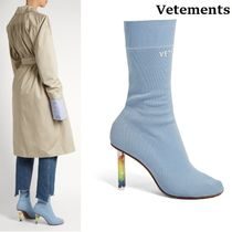 VETEMENTS Star Round Toe Pin Heels Ankle & Booties Boots
