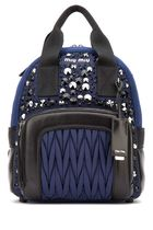 MiuMiu MATELASSE Casual Style 2WAY Bi-color With Jewels Backpacks