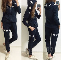 Star Casual Style Unisex Street Style Plain Cotton