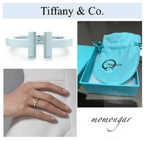 Tiffany & Co Tiffany T Costume Jewelry Casual Style Silver Rings