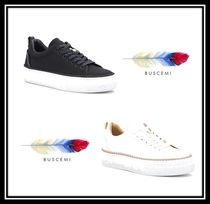 BUSCEMI Rubber Sole Casual Style Suede Plain Low-Top Sneakers