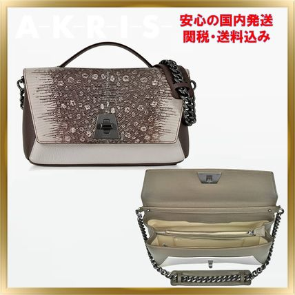 2WAY Chain Other Animal Patterns Leather Elegant Style