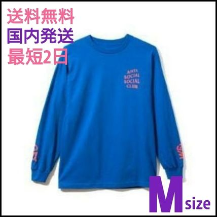 Street Style Long Sleeves Plain Logos on the Sleeves