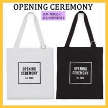OPENING CEREMONY Casual Style Unisex Cambus A4 Plain Totes