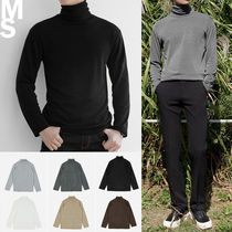 Street Style Long Sleeves Plain T-Shirts