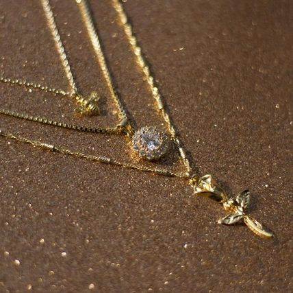 Casual Style Flower Street Style Brass Necklaces & Pendants