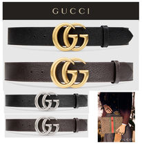 GUCCI GG Marmont Unisex Leather Belts