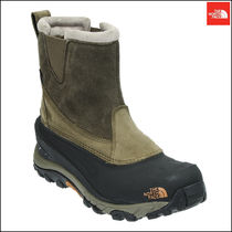 THE NORTH FACE Argile Wing Tip Mountain Boots Street Style Plain Leather