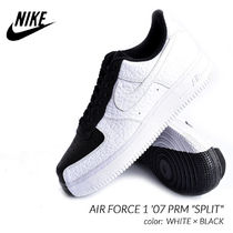 Nike AIR FORCE 1 Street Style Plain Leather Sneakers