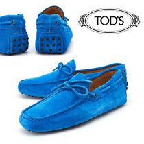 TOD'S Loafers Suede Plain Loafers & Slip-ons