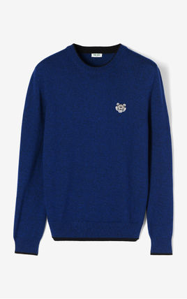 KENZO Knits & Sweaters Crew Neck Long Sleeves Plain Cotton Knits & Sweaters 2