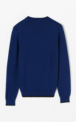 KENZO Knits & Sweaters Crew Neck Long Sleeves Plain Cotton Knits & Sweaters 3