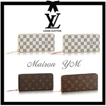Louis Vuitton DAMIER AZUR Monogram Leather Long Wallets