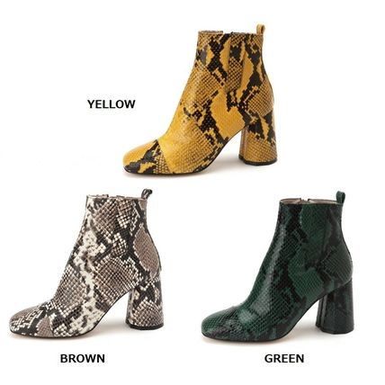 Round Toe Street Style Other Animal Patterns Leather