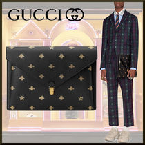 GUCCI Star Unisex Other Animal Patterns Leather Clutches