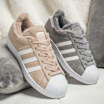 adidas SUPERSTAR Faux Fur Collaboration Plain Low-Top Sneakers