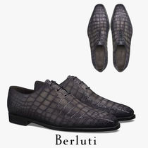 Berluti ALESSANDRO Plain Toe Other Animal Patterns Leather Oxfords
