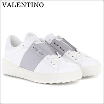 VALENTINO Casual Style Leather Platform & Wedge Sneakers