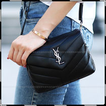Saint Laurent 2WAY Leather Party Style Clutches