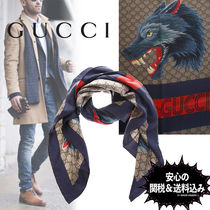 GUCCI Silk Other Animal Patterns Scarves