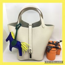 HERMES Picotin Collaboration Plain Leather Bags