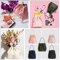 The Daily Edited Plain Leather Elegant Style Shoulder Bags
