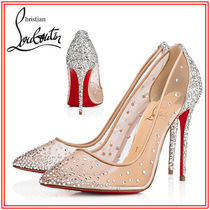Christian Louboutin Pin Heels With Jewels Pointed Toe Pumps & Mules