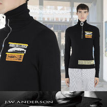 J W ANDERSON Pullovers Wool Long Sleeves Plain Knits & Sweaters