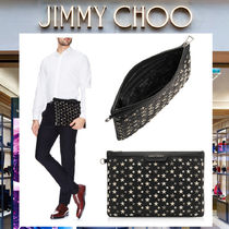 Jimmy Choo Star Studded Leather Clutches