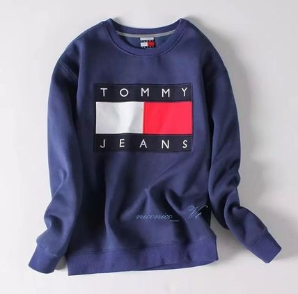 Tommy Hilfiger Sweatshirts Crew Neck Unisex Street Style Long Sleeves Cotton 3