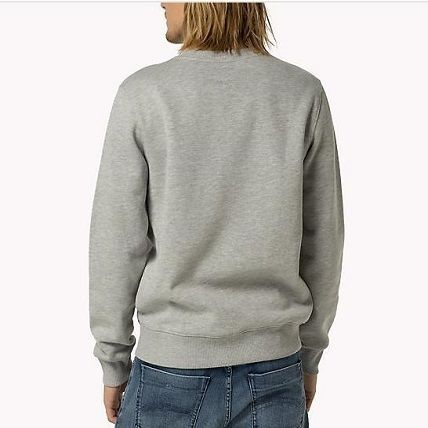 Tommy Hilfiger Sweatshirts Crew Neck Unisex Street Style Long Sleeves Cotton 5
