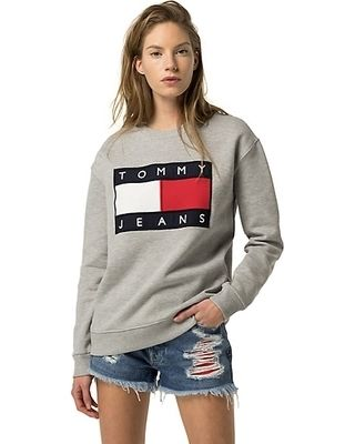 Tommy Hilfiger Sweatshirts Crew Neck Unisex Street Style Long Sleeves Cotton 6