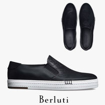Berluti Plain Toe Street Style Plain Leather Loafers & Slip-ons