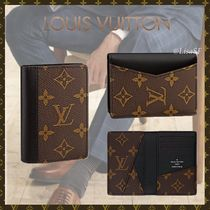Louis Vuitton MONOGRAM MACASSAR Monogram Canvas Blended Fabrics Street Style Bi-color