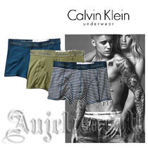 Calvin Klein Stripes Plain Cotton Boxer Briefs