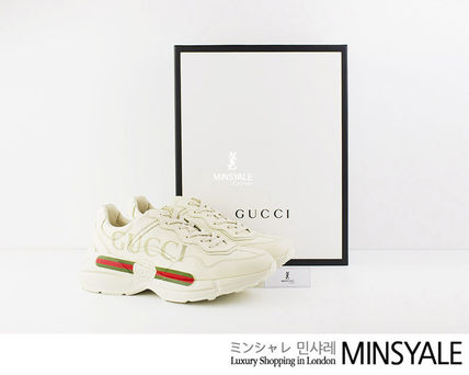 d02b5767906b2 ... GUCCI Sneakers Rhyton Gucci logo leather  London department store new  item  ...