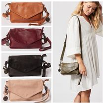 WANDERERS TRAVEL CO. Casual Style 2WAY Plain Leather Shoulder Bags