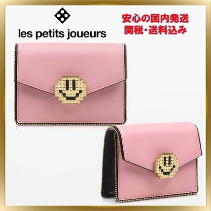 2WAY Plain Leather Party Style Clutches